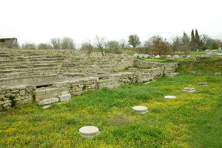 troy: Ruins of ancient troy city,  Stock Photo