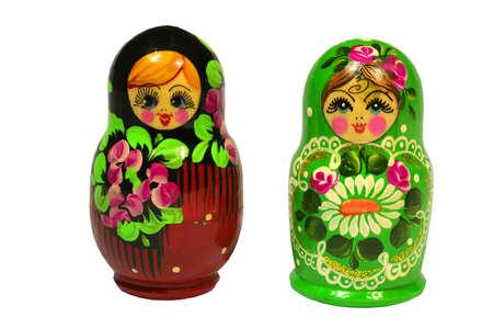 matruska dolls over white Stock Photo - 7287532