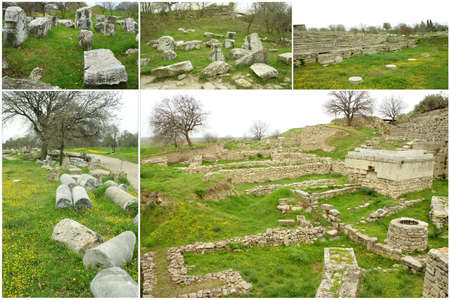 troya: Ruins of ancient troia city, Canakkale (Dardanelles)  Turkey,