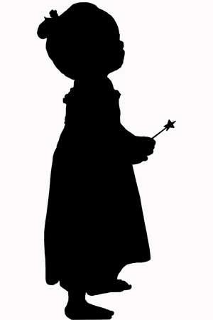 cute girl silhouette