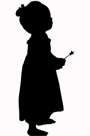 black baby girl: cute girl silhouette