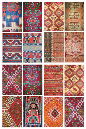 carpets as collage photo