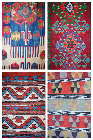wool rugs: carpet collage