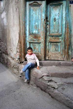 megfosztott: szegény gyermek portré