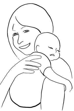 mother and baby, icon  Vector
