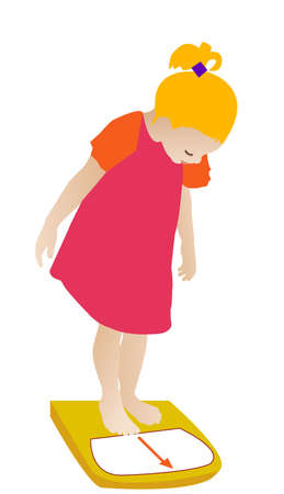 checking her weight, vector Stock Vector - 14962343