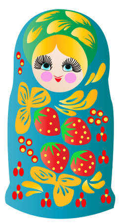 moldovan: Matryoshka doll in vector,