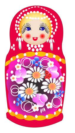 russian doll: Matryoshka dolls  Russian nested dolls, Babushka dolls, Russian Souvenir,  Illustration