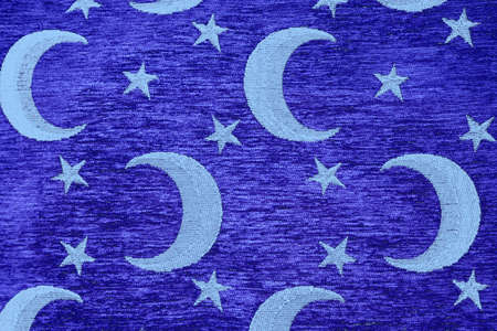 crescent and stars on blue background  photo