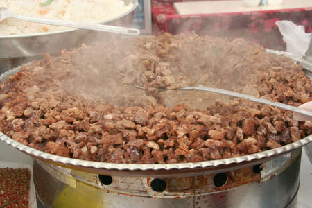 donner: kavurma, famous turkish meal, ready to eat
