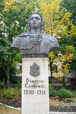 linguist: Statue of Dimitrie Cantemir, moldovian prince