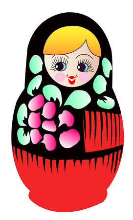 moldovan: Matryoshka dolls in vector