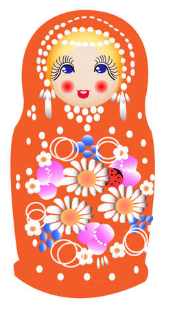 Matryoshka dolls in vector Vector