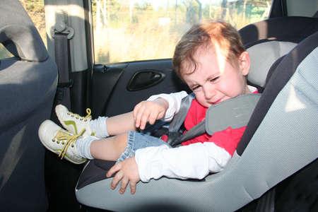 baby do not eant to sit at sea belt Foto de archivo