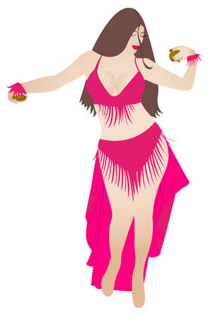 belly dancer: belly dancer  Illustration
