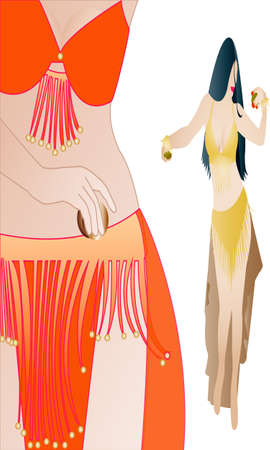 belly dancer vector Vector