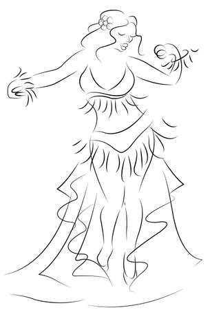 belly dancer sketch   Vector