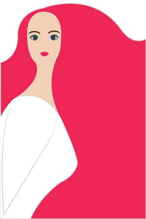 damsels: beautiful lady portrait vector