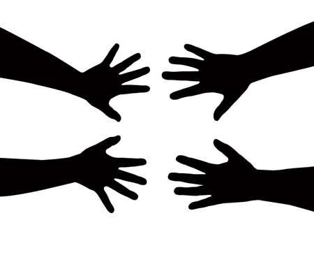 sister s hands vector Stock Vector - 17600696