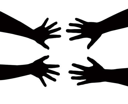 nursing sister: sister s hands vector Illustration