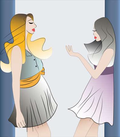 blab: due ragazze parlando