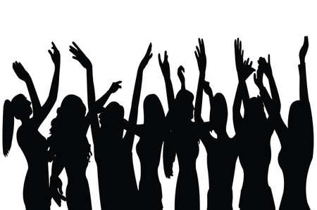 dansende meisjes vector Vector Illustratie