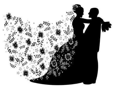 couple getting married,vector