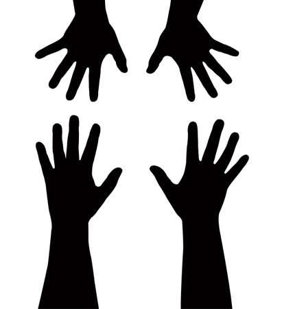 sister s hands vector