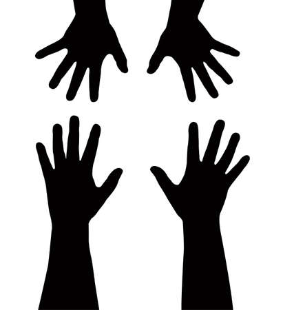 nursing sister: sister s hands vector