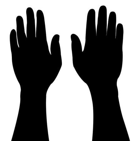 pair of vector hands Stock Vector - 18001984