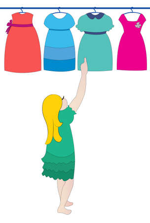 choosing dress Stock Vector - 18021273