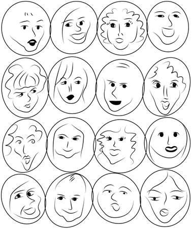 faces Stock Vector - 18061535