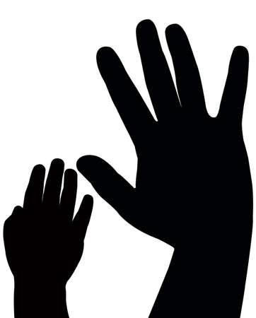 hands vector Stock Vector - 18347408