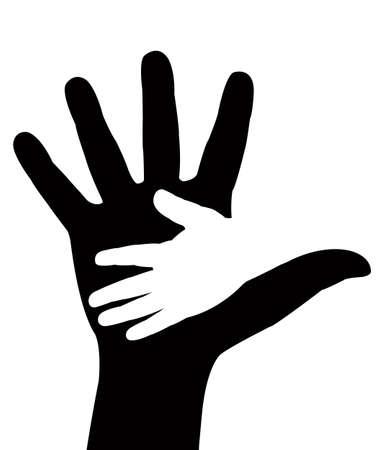 hand in hand Stock Vector - 18932634