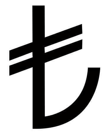 denominational: New Turkey or Turkish Lira sign from March 2012
