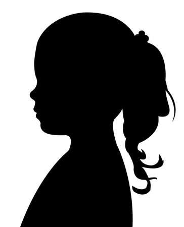 profile silhouette: child head silhouette Illustration