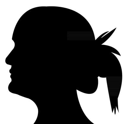 a lady head silhouette Stock Vector - 20015013