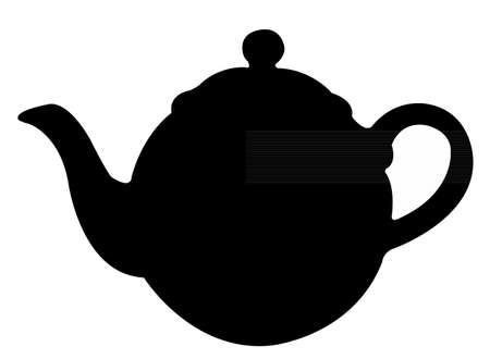 pot: tea pot silhouette Illustration
