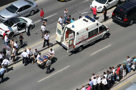 occurred: first aid at traffic accident occurred in Ankara, Turkey at 24th June 2013 Editorial