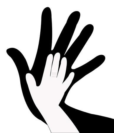 hands silhouette Stock Vector - 20610531