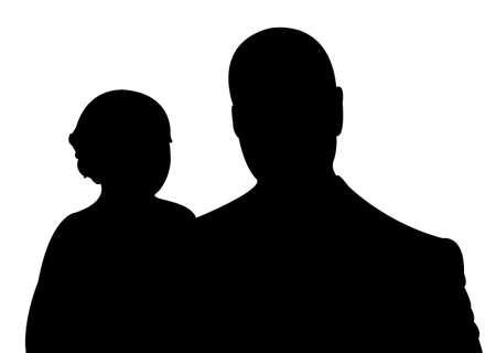 happy family portrait Illustration