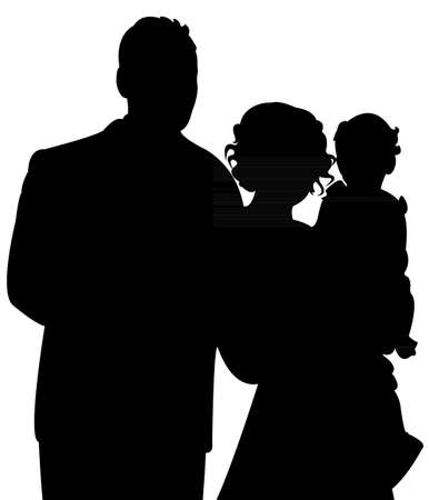 happy family portrait Иллюстрация