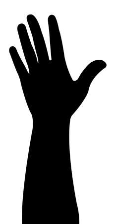 body part: one lady hand silhouette