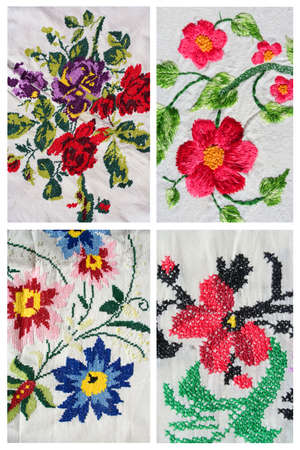 turkish embroidery, collage Stock Photo - 22770696