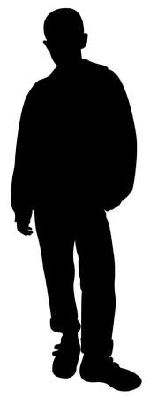 young culture: silhouette of a teenager