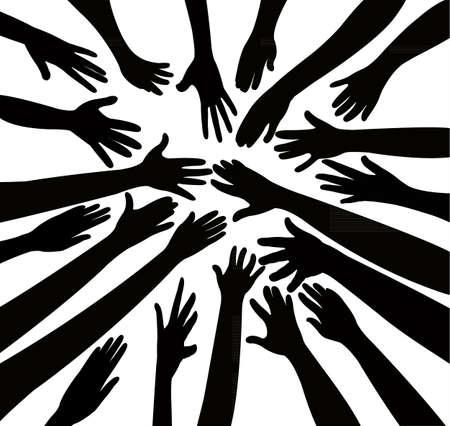 community work: hands together