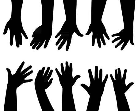 hands together, vector