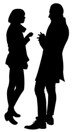 two friends talking: two friends talking, vector