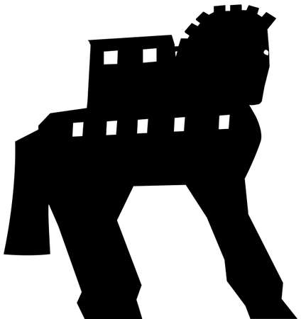 troy: Trojan Horse silhouette vector