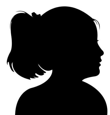 profile picture: a child head silhouette vector